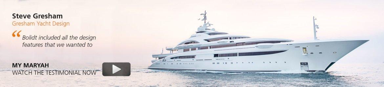 Banner super yacht testimonial Gresham