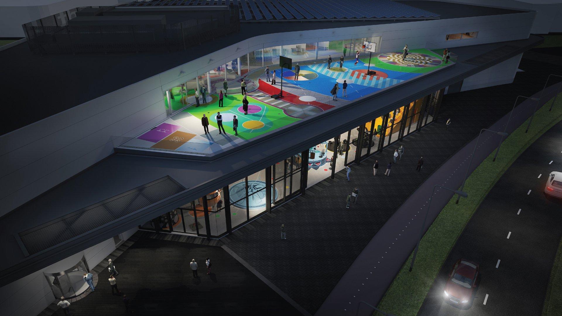 AREA78 Bolidt Experience Center dakterras