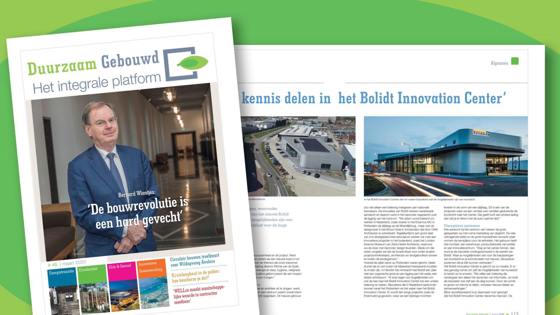 Bolidt Innovation Center Artikel in Duurzaam Gebouwd magazine