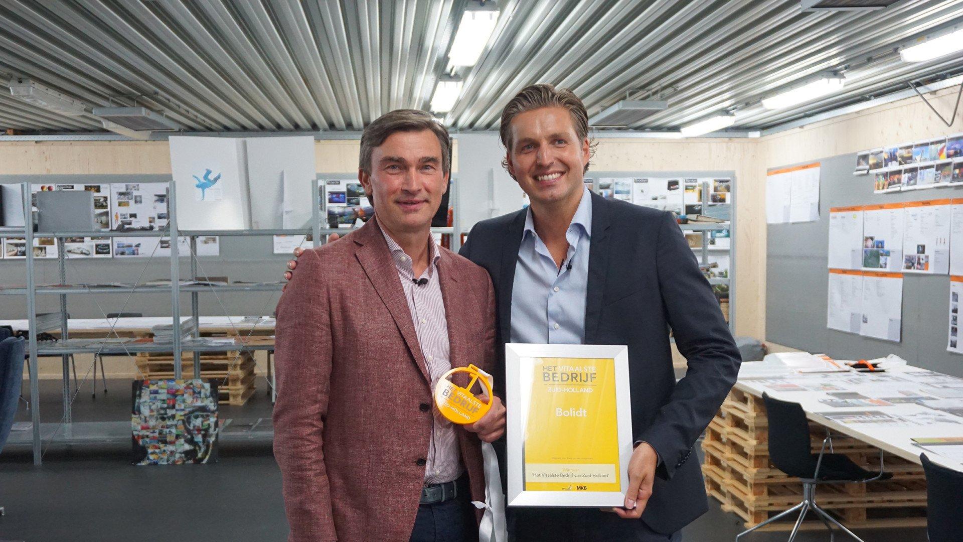 Bolidt Vitaal ONVZ Het vitaalste bedrijf Zuid-Holland 2016