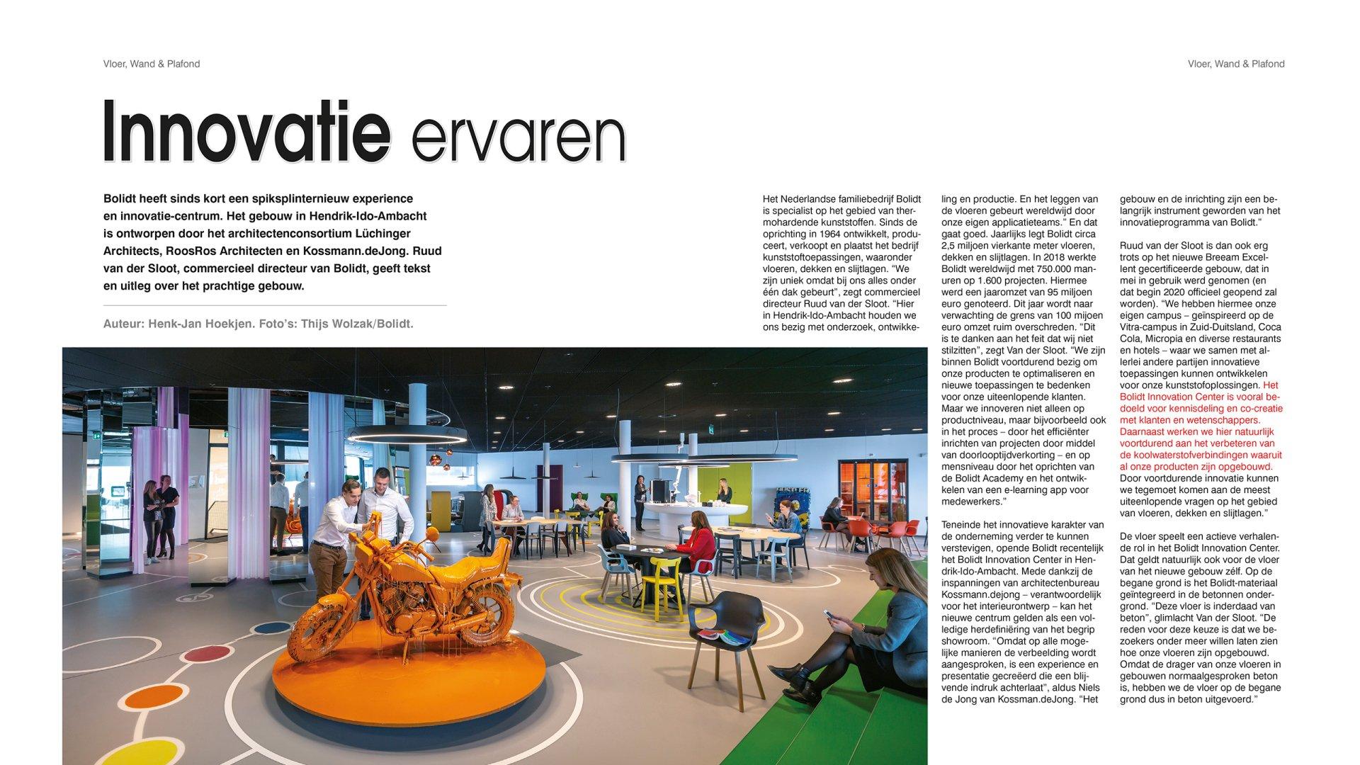 InsideInformation magazine-artikel Innovatie ervaren Bolidt
