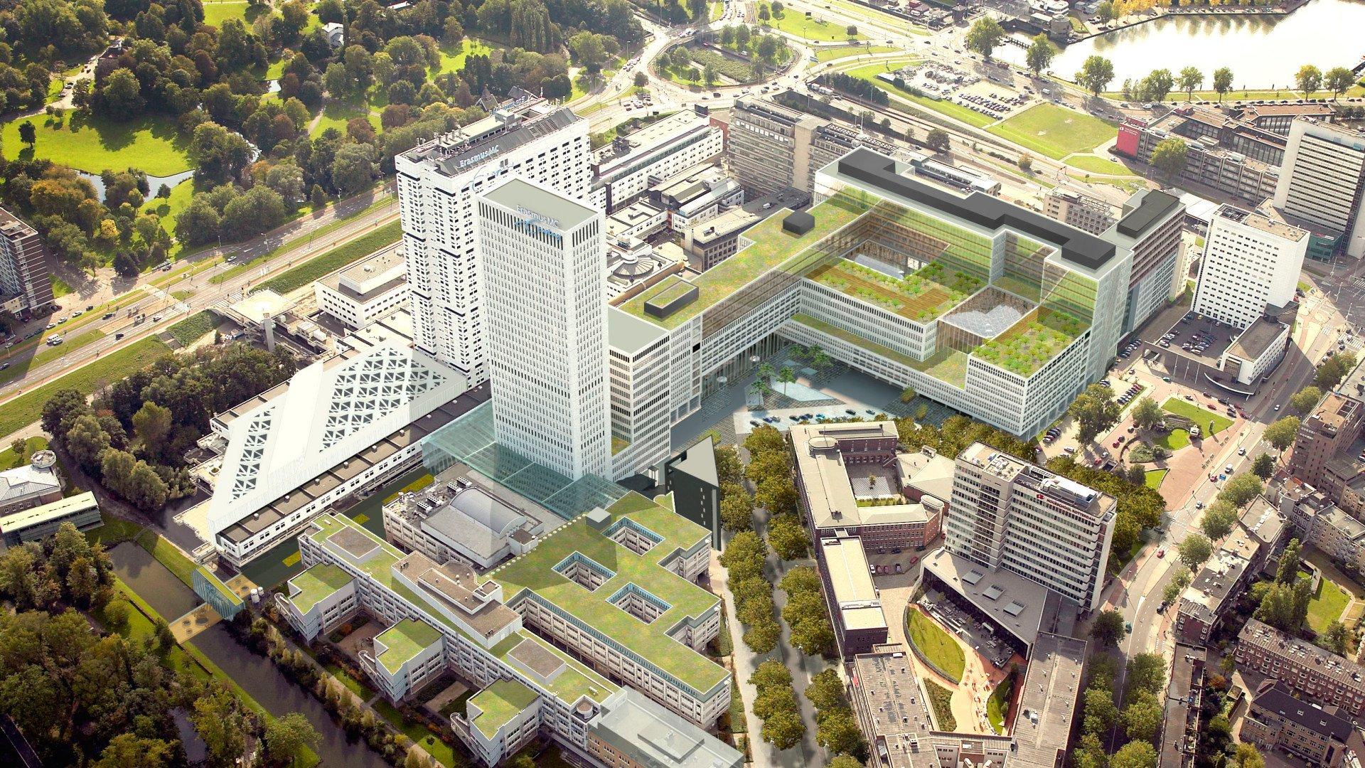 Erasmus MC Rotterdam luchtfoto