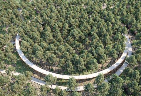 Fietsbrug fietsen door de bomen Boligrip 1250 Boligrip WR