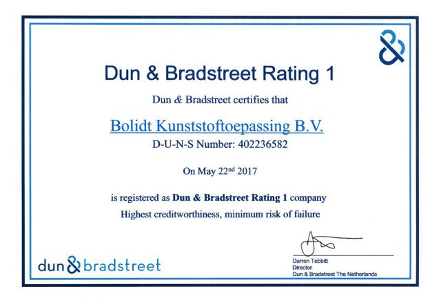 Bolidt Dun & Bradstreet Rating 1 Engels 2017