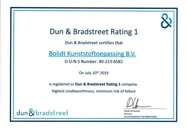 Bolidt Dun & Bradstreet Rating 1 Engels 2019