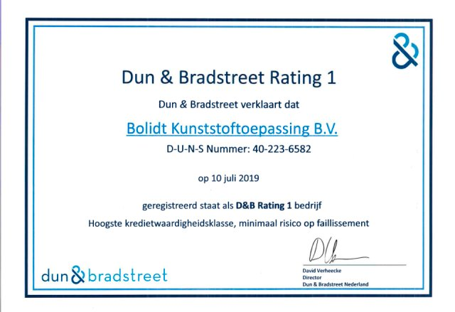 Bolidt Dun & Bradstreet Rating 1 Nederlands 2019